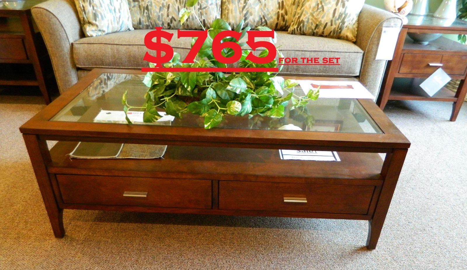 Living Room Furniture Sets Clearance Broyhill Arland Coffee 2 End Tbls 765 2jpg