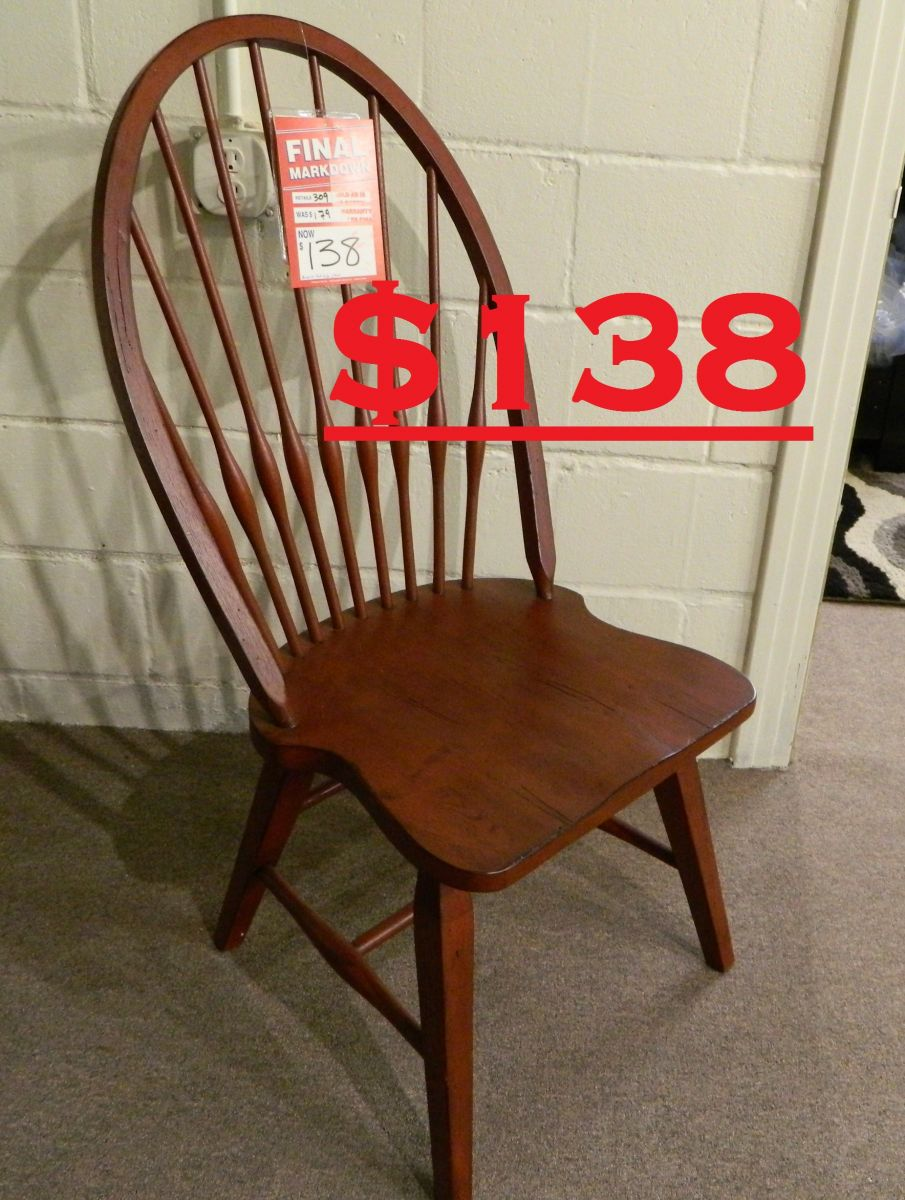 Broyhill Windsor Side Chair Was 309 Clearance Price 138