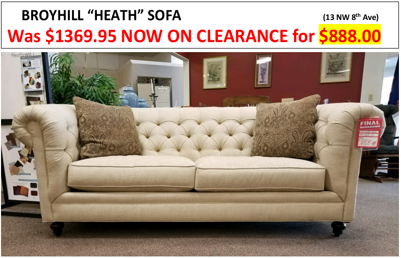 Clearance Furniture Items From Walker Furniture In Gainesville Florida